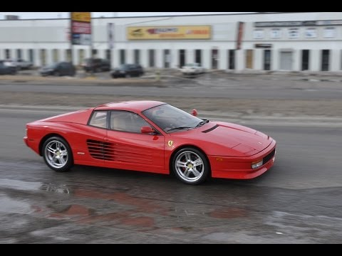 Ferrari Testarossa with Loud Capristo Exhaust // ZR Auto