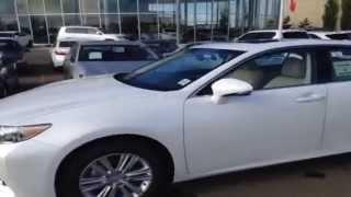 2014 White Lexus ES 350 Review