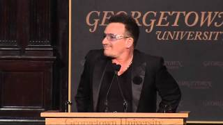 U2's Bono Speaks at GU Global Social Enterprise Event