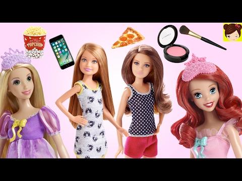 Historias de Pijamadas con Muñecas - Barbie y sus Hermanas, Princesas Disney, Frozen Bebes