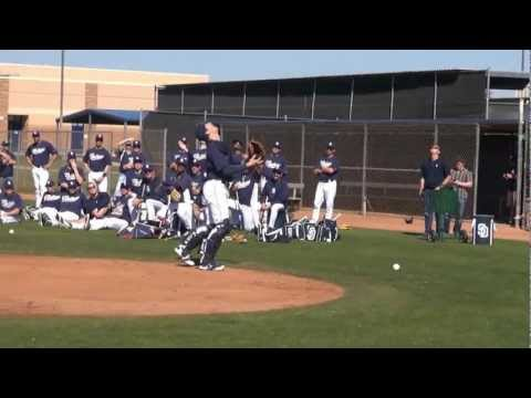 "San Diego Padres hold their 2013 ""Catching Olympics"""