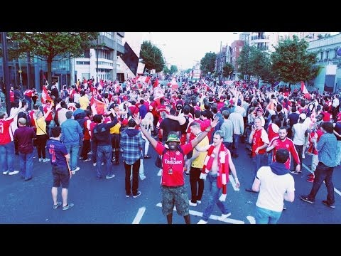 El Seven: Arsenal Pre-Parade FA Cup Celebrations Outside Emirates Stadium And On Holloway Road