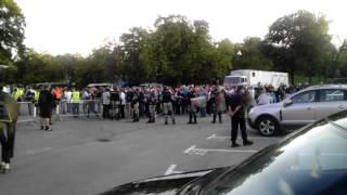 Navijači Partizana skandiraju Škotska pred meč sa engleskim Totenhemom