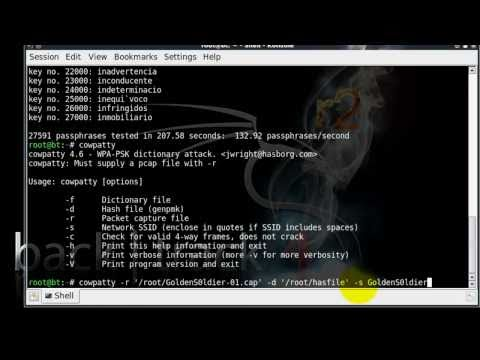 Crack WPA&amp;WPA2 Backtrack 4 (HD 720p)