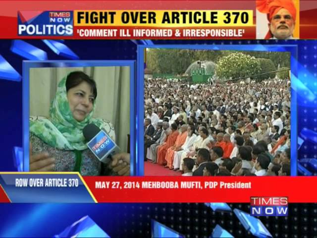Article 370: Minister speaks out of turn