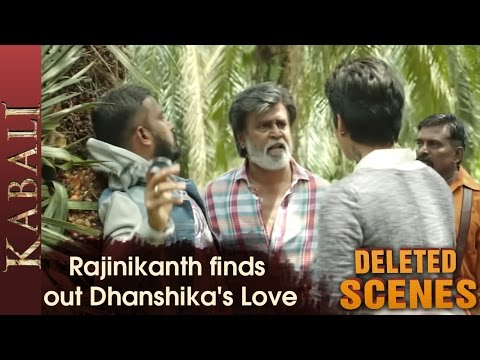 Rajinikanth finds out Dhanshikas Love - Kabali Deleted Scenes