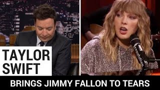 Taylor Swift Brings Jimmy Fallon to Tears With Emotional Performance After Mother's Passing