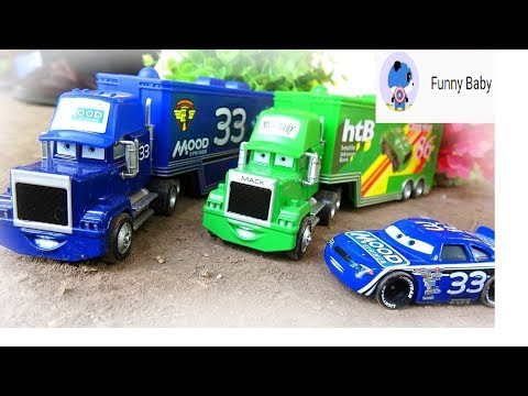 Car color, ball color, car truck color, car bus color- Funny baby