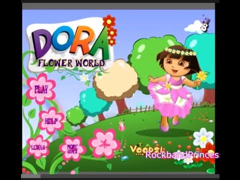 Dora Games To Play - Dora Flower World Game Part 1