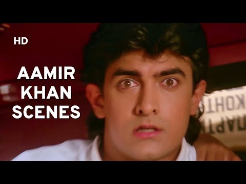 Aamir Khan Action - Comedy Scenes | Hum Hai Rahi Pyaar Ke | Hindi Comedy Movie