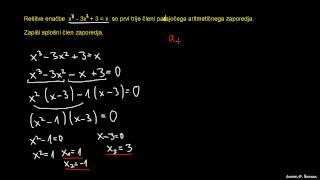 Aritmetično zaporedje – naloga 3