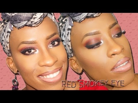 Hình ảnh trong video Red and Brown Smokey Eye Makeup | Makeupbytinu
