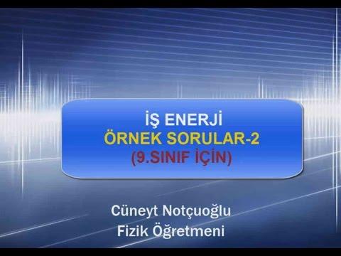 İŞ ENERJİ ÖRNEK SORULAR-2