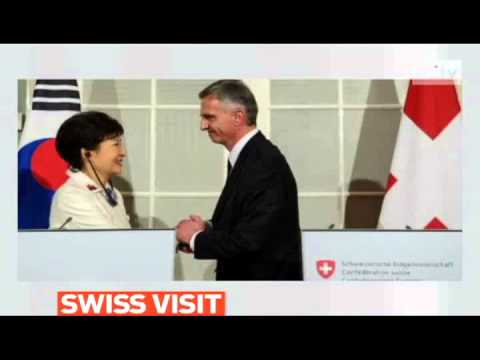mitv - South Korean president Park Geun-hye pays the first visit to Switzerland