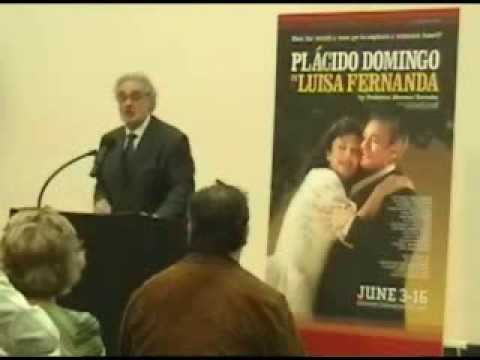 Placido Domingo on the zarzuela LUISA FERNANDA