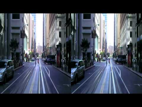 San Francisco Cable Car Ride in Full HD 3D California St to Embarcadero Station