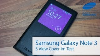 Samsung Galaxy Note 3 S View Cover Test Review Deutsch