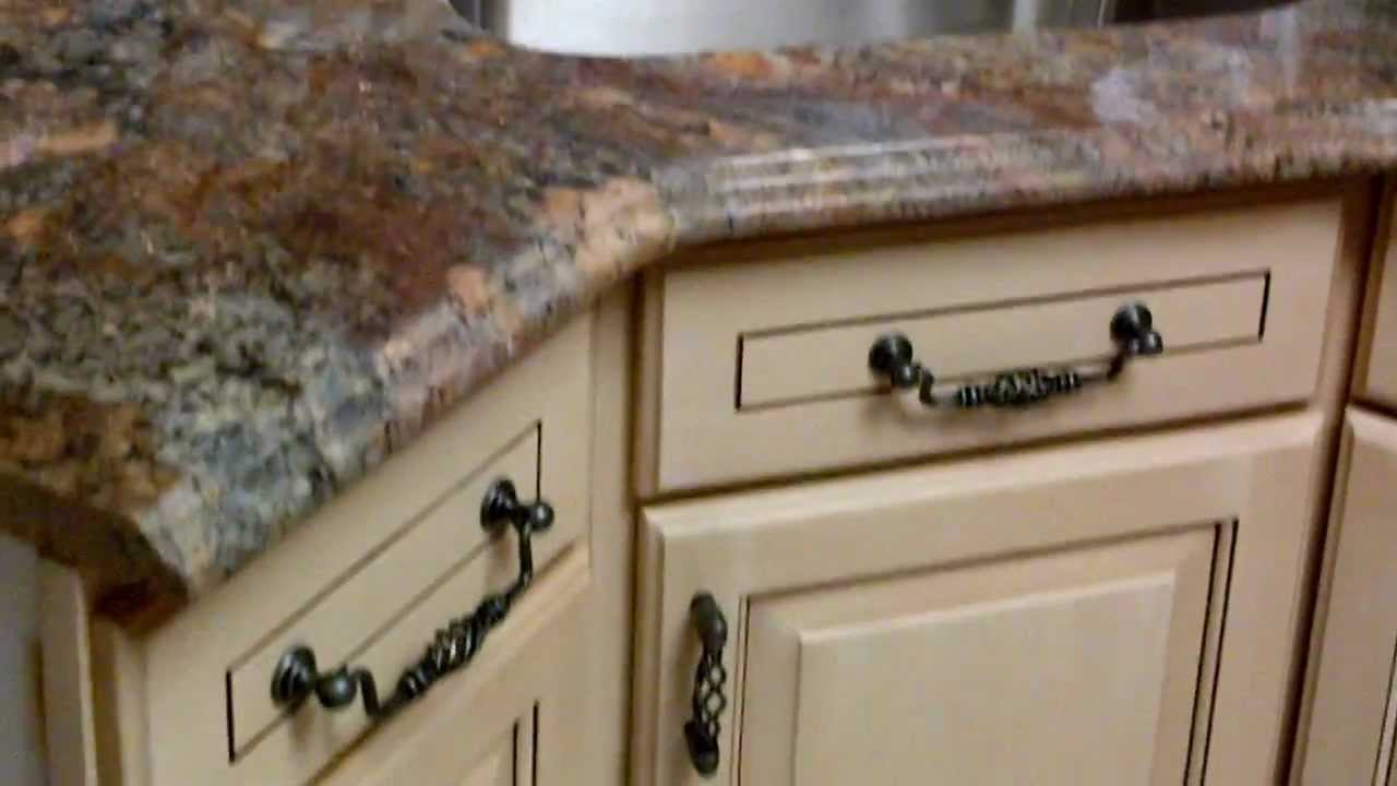 kitchen cabinets ivory glaze finish by www PianoFinish com residential