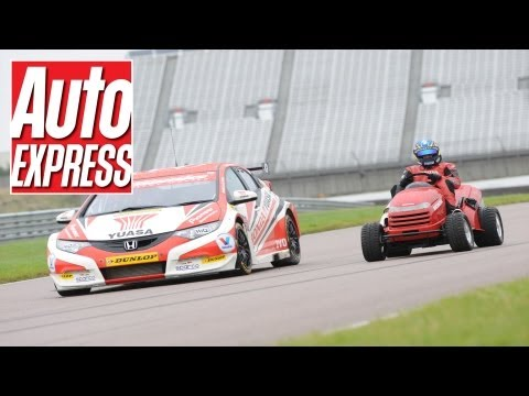 Lawn mower takes on the Honda Yuasa Racing Civic - celebrating 100,000 subscribers