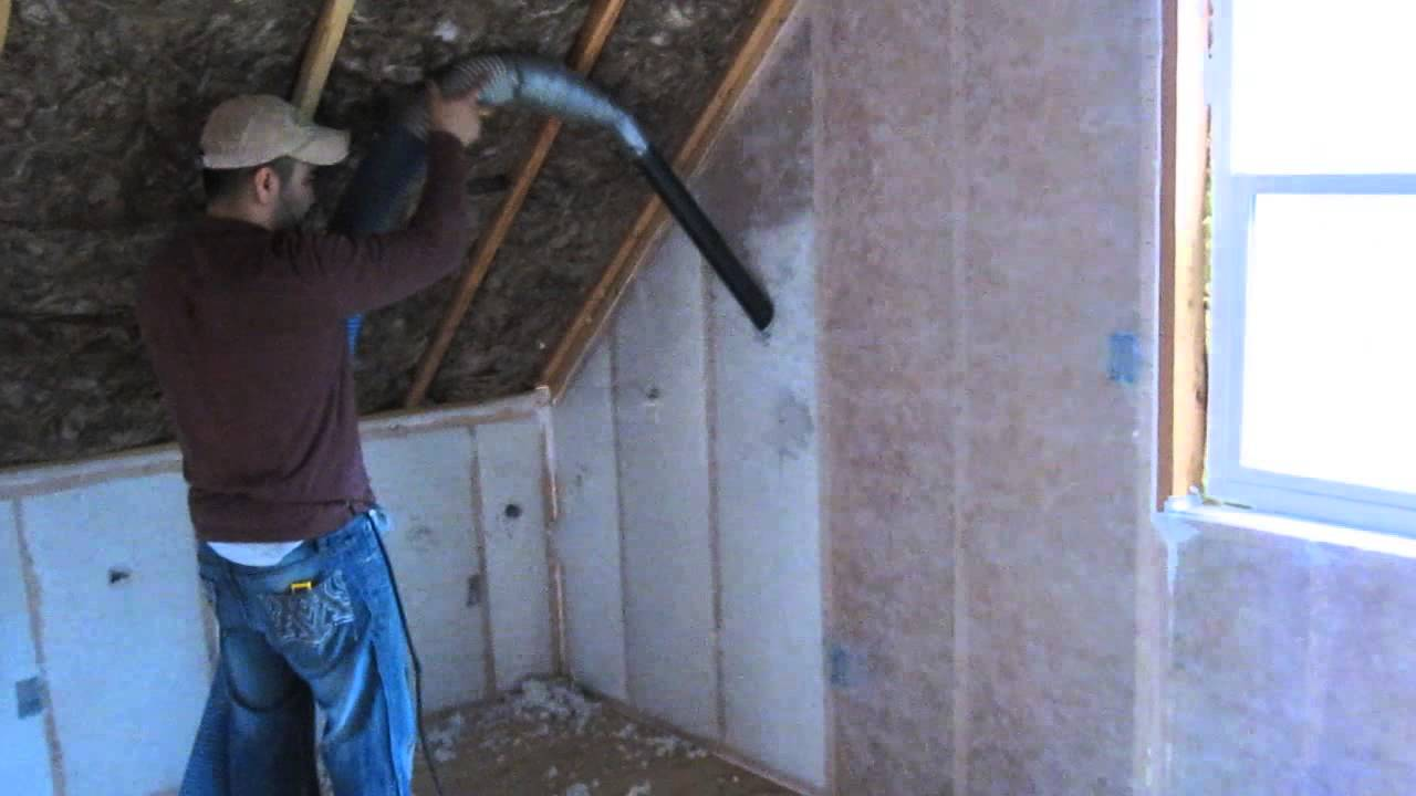 Blow In Blanket Insulation Youtube