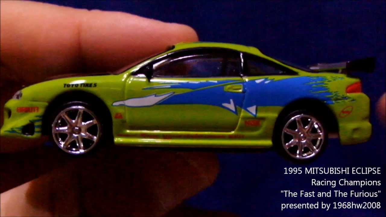 """1/64 scale 1995 MITSUBISHI ECLIPSE """"The Fast and The Furious"""" Unboxing - YouTube"""