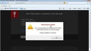 """How To Remove """"Flash Player Update!"""" Popup From Www"""