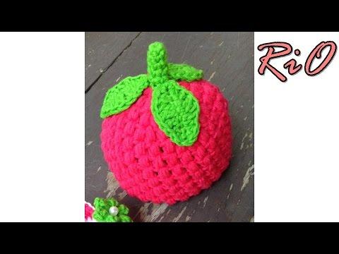 [Crochet] Hướng dẫn móc mũ dâu tây đáng yêu cho bé sơ sinh