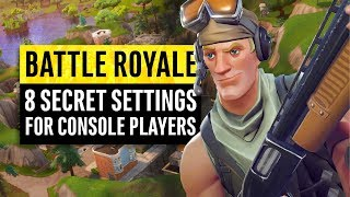 Fortnite Battle Royale | 8 Secrets and Settings for Console Players (PS4 & Xbox One)