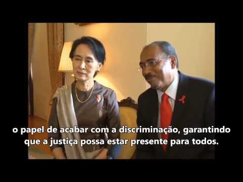 Entrevista com Daw Aung Sang Suu Kyi e Michel Sidibé no Dia Mundial da AIDS 2013