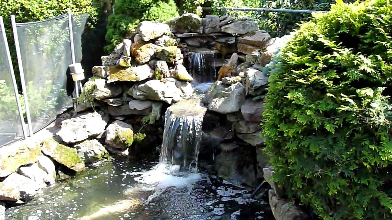 Koi Pond Waterfall Rebuild 2010 Youtube