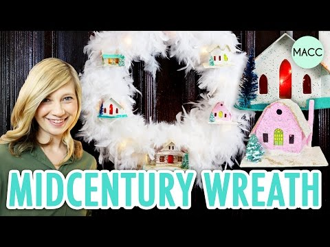 DIY LED Midcentury Winter Wreath