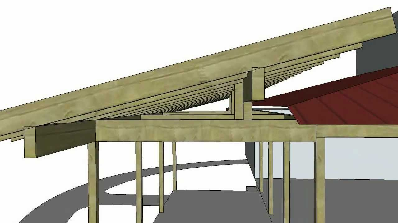 Porch roof addition sketchup animation 1216 youtube for Roof addition