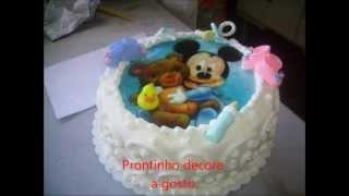 Video Aula Confeitagem Em Slide Bolo Baby Disney Com