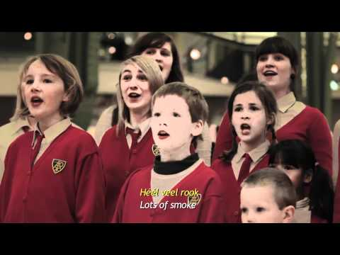 Children's choir starts bullying in a shopping mall