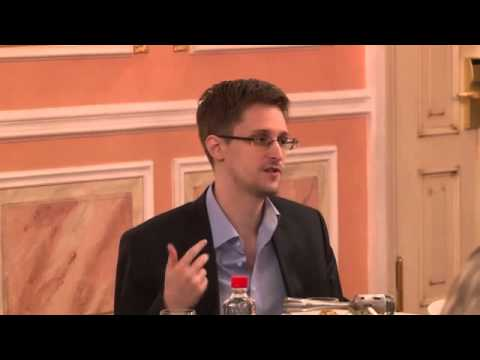 Edward Snowden speaks about NSA programmes at Sam Adams award presentation