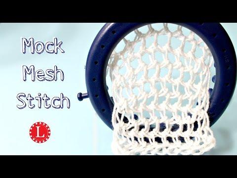LOOM KNITTING STITCHES Mock Mesh Stitch