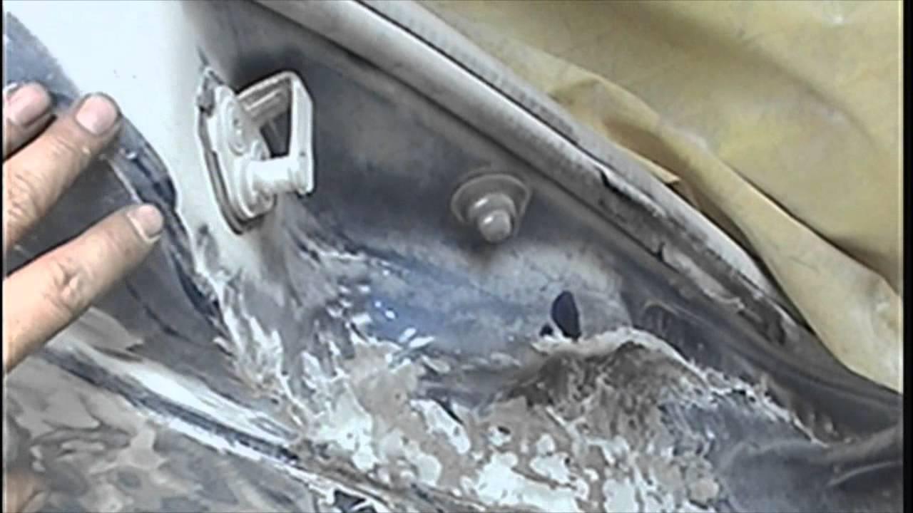 Tutorial para reparacion de auto con fibra de vidrio 1 de - Pasta de fibra de vidrio ...