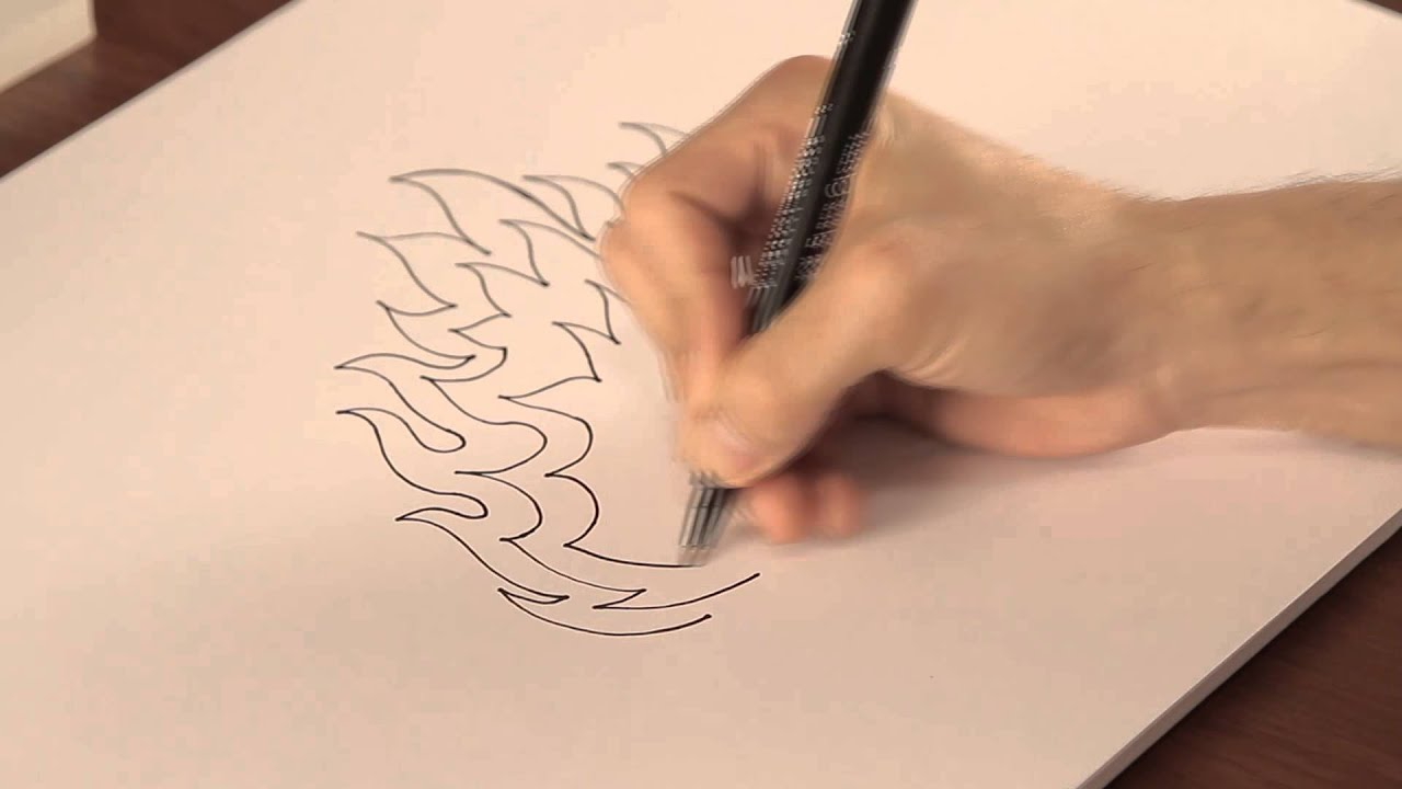 C mo dibujar llamas tips de dibujo youtube - Como decorar un dibujo ...