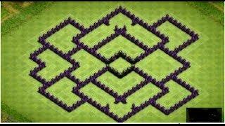 ***Clash Of Clans Rathaus Level 8 BEST Farming Base