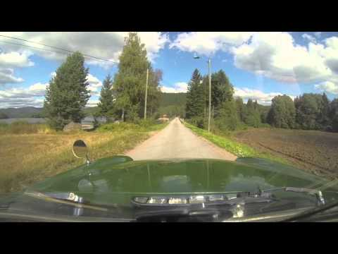 Driving MGB in the countryside of Norway -