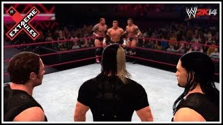 WWE Extreme Rules 2014 Evolution Vs The Shield 6 Man