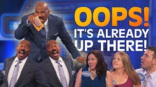 IT'S ALREADY UP THERE!! Steve Harvey ROASTS contestants!! | Family Feud