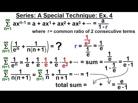 Calculus 2: Infinite Sequences and Series (31 of 62) Series: A Special Technique Ex. 4
