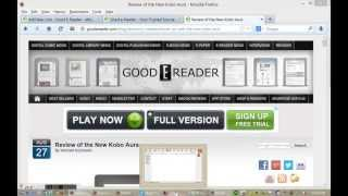 How To Load EBooks On The Kobo Aura 2013