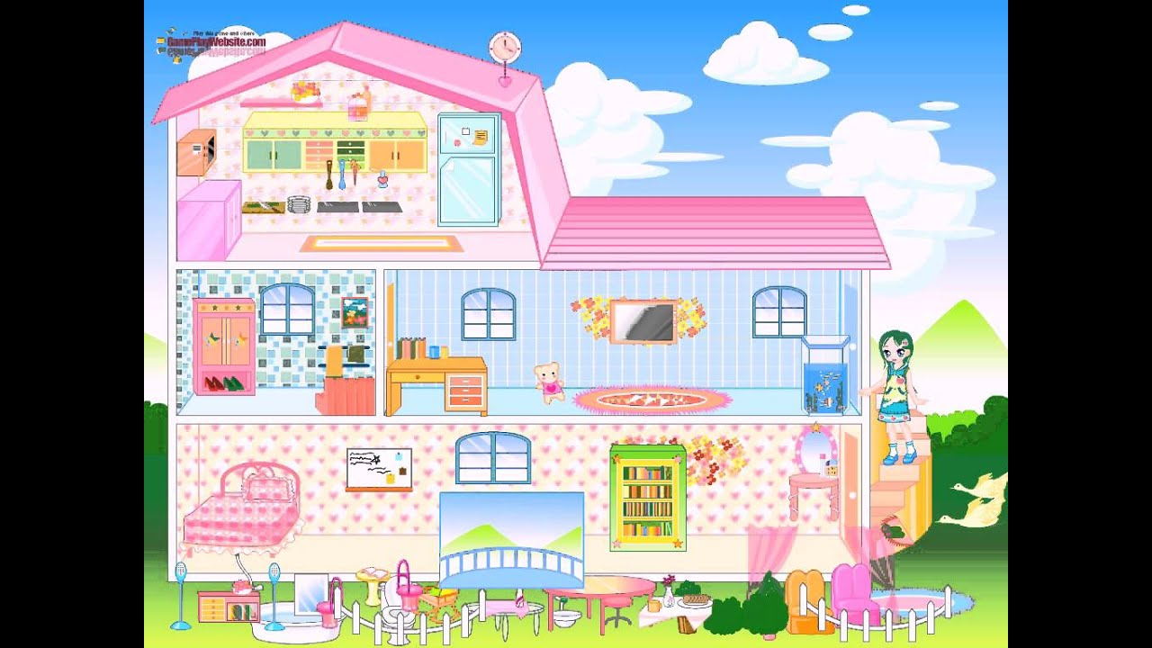 Barbie House Game For Girls Barbie Dress Up Cartoon Full Episodes Baby Games Youtube