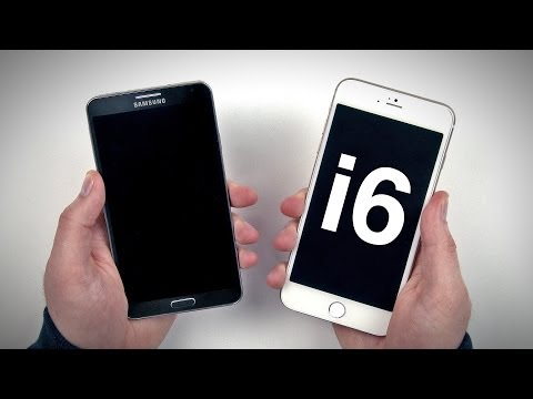 "Note 3 vs iPhone 6 (5.5"" Mockup)"