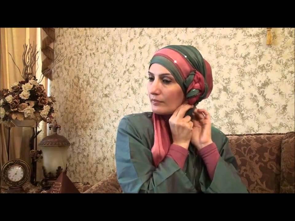 Hijab Tutorial # 11(Elegant Hijab w/ Twisted Flower) - YouTube