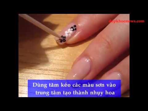 Kiểu nails hình hoa tinh tế