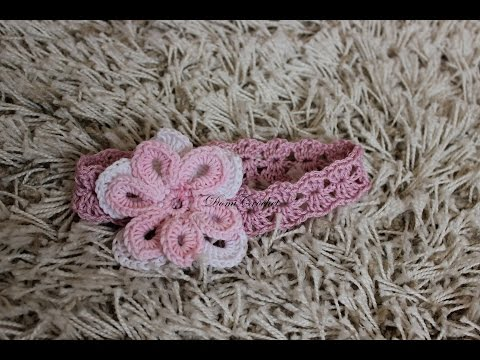 How to crochet summer baby headband