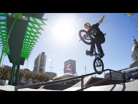 Garrett Reynolds Winning Run - Dew Tour San Francisco BMX Street Finals 2012